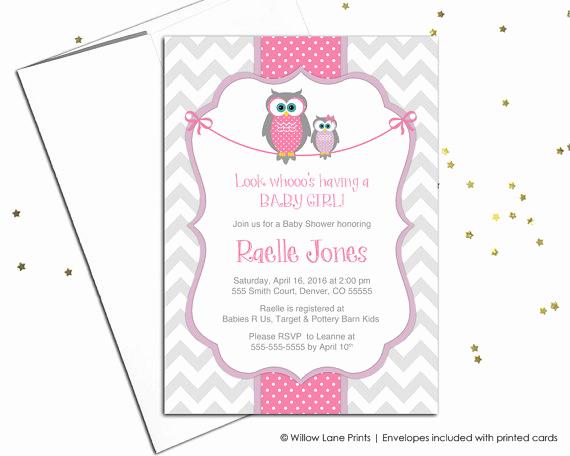 Work Baby Shower Invitation Unique Baby Shower Invitations for Baby Girls Owl Baby Shower