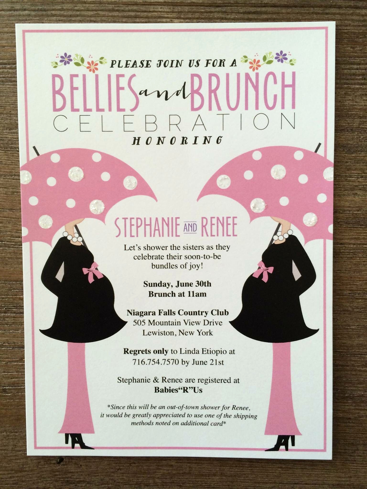 Work Baby Shower Invitation Wording Luxury these Bellies Brunch Invitations are Perfect for A Joint