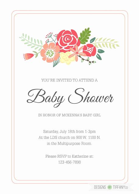 Work Baby Shower Invitation Wording New Designs by Tiffany Client Work Baby Shower Invitation