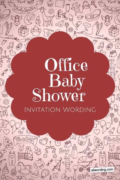 Work Baby Shower Invitation Wording New Fice Baby Shower Invitation Wording Allwording
