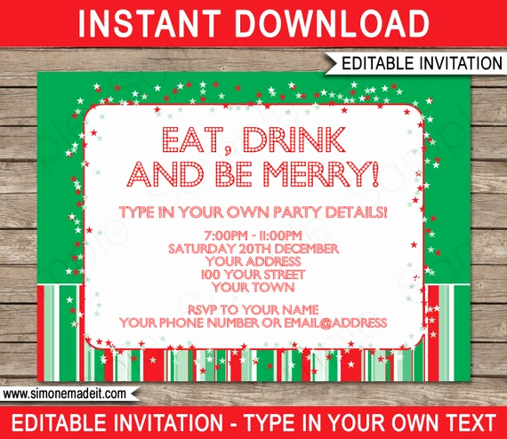 Work Christmas Party Invitation Awesome Christmas Invitation Template Christmas Party Invitation