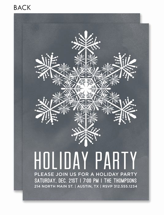 Work Christmas Party Invitation Best Of Chalkboard Snowflake by Noteworthy Collections