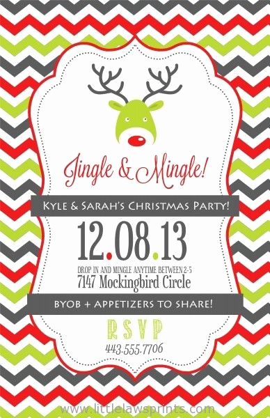 Work Christmas Party Invitation Lovely Jingle and Mingle Christmas Party Invitation