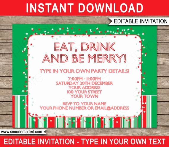 Work Christmas Party Invitation Luxury Christmas Invitation Template Christmas Party Invitation