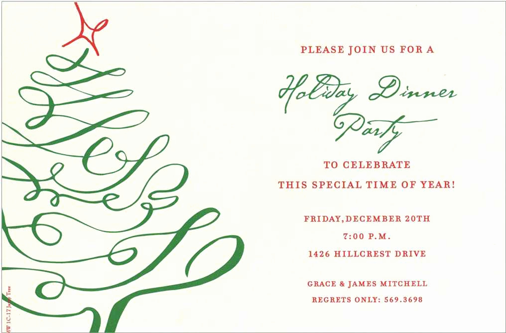 Work Christmas Party Invitation Luxury Pany Christmas Party Invitations