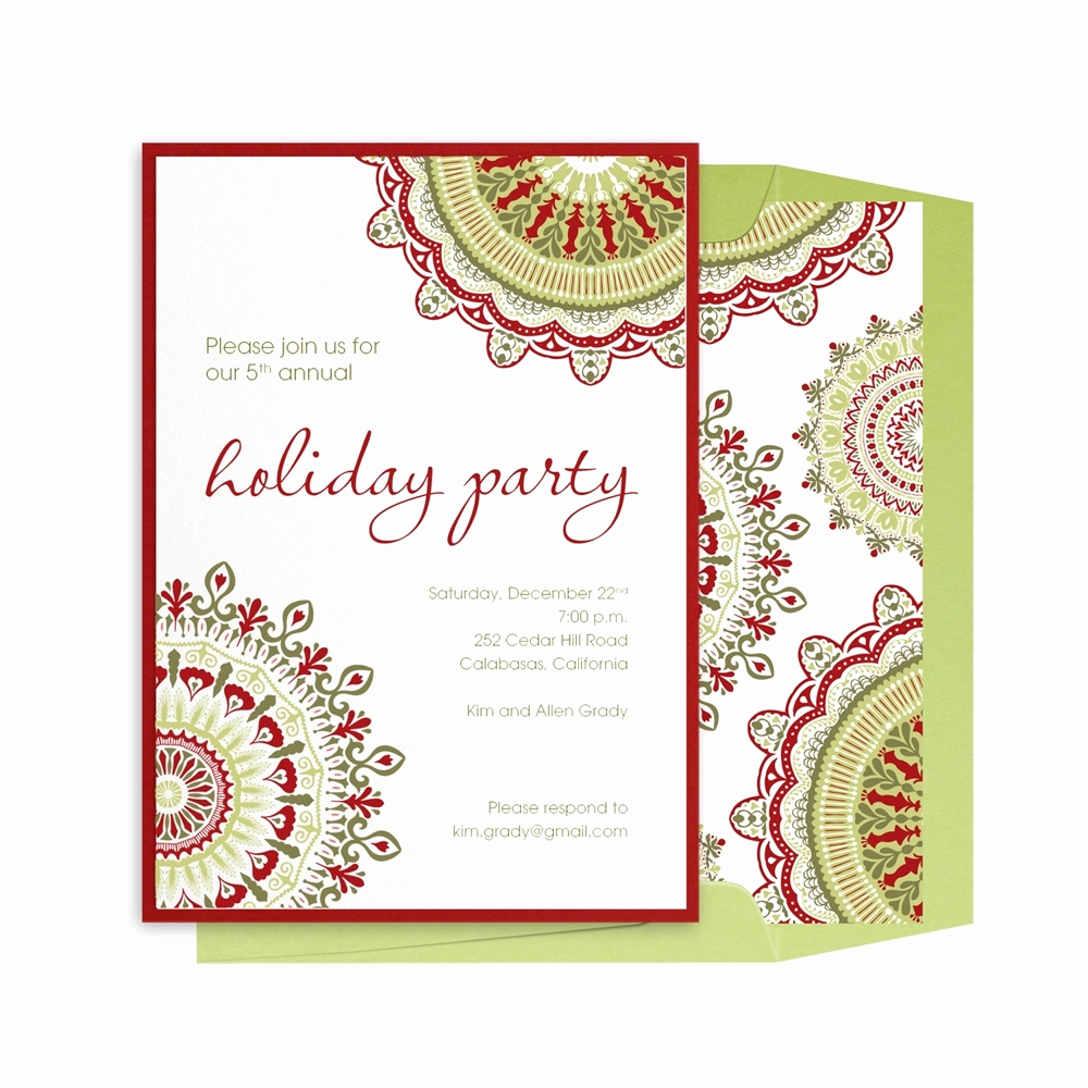 work christmas invitation templates