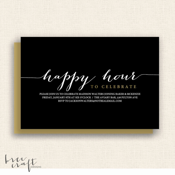 Work Happy Hour Invitation Wording Elegant 14 Happy Hour Invitation Designs & Templates Psd Ai