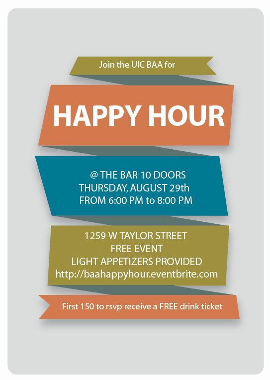 Work Happy Hour Invitation Wording Elegant Baa Summer Happy Hour Tickets Thu Aug 29 2013 at 6 00