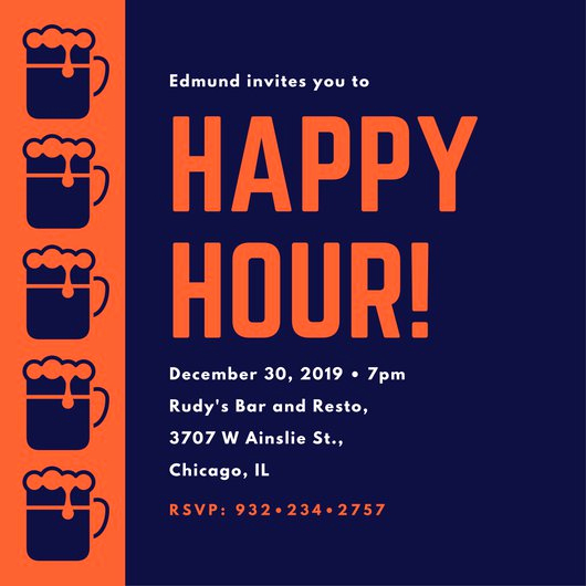 Work Happy Hour Invitation Wording Elegant Customize 242 Happy Hour Invitation Templates Online Canva