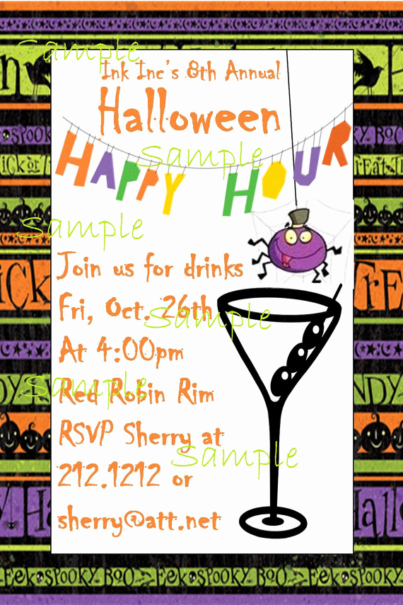 Work Happy Hour Invitation Wording Fresh Halloween Happy Hour Invitation Wording – Festival Collections