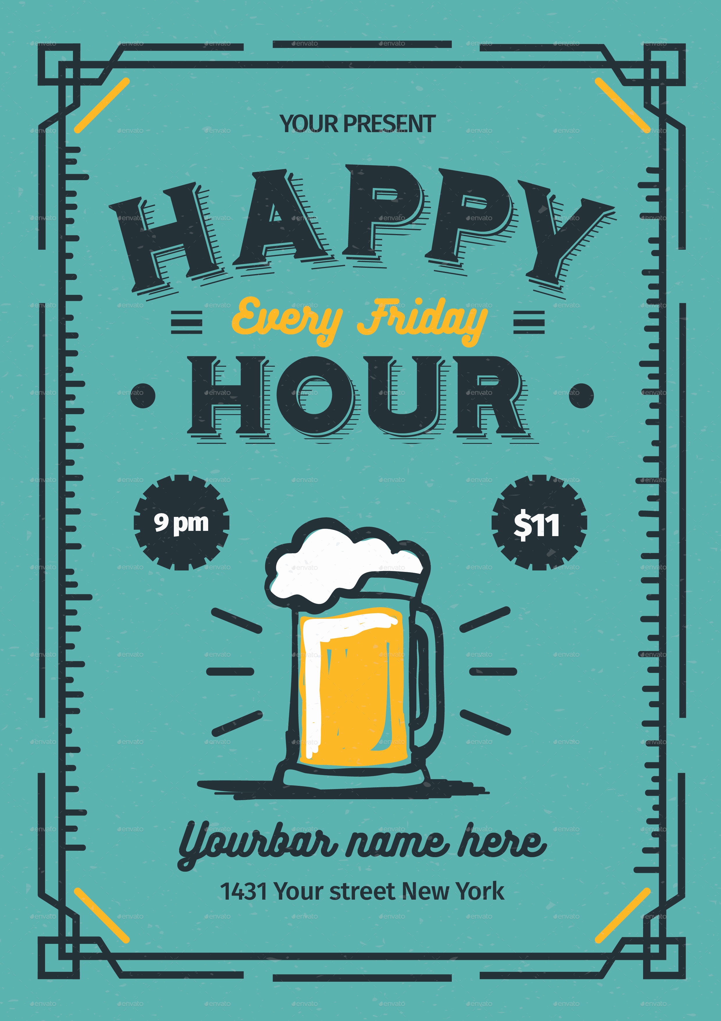 Work Happy Hour Invitation Wording Lovely Happy Hour Flyer by Lilynthesweetpea