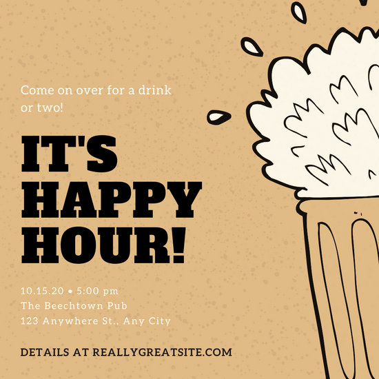 Work Happy Hour Invitation Wording Luxury Customize 71 Happy Hour Invitation Templates Online Canva
