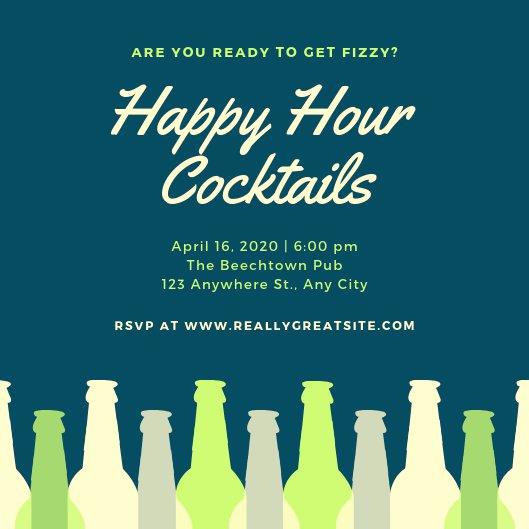 Work Happy Hour Invitation Wording New Customize 101 Happy Hour Invitation Templates Online Canva