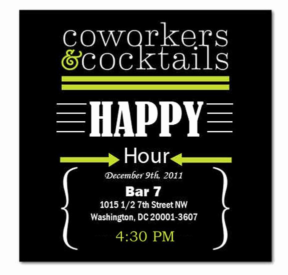 Work Happy Hour Invitation Wording New Happy Hour Invite Wording Samples Invitation Templates