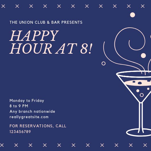 Work Happy Hour Invitation Wording Unique Customize 101 Happy Hour Invitation Templates Online Canva