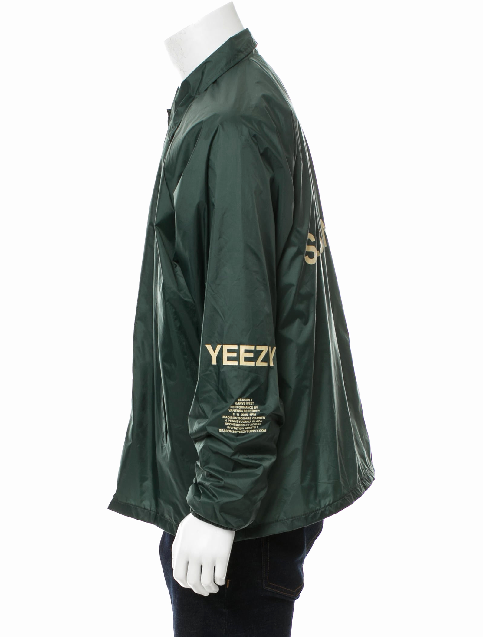 Yeezy Invitation 3 Windbreaker Elegant Yeezy Season 3 Invitation Coaches Jacket Clothing