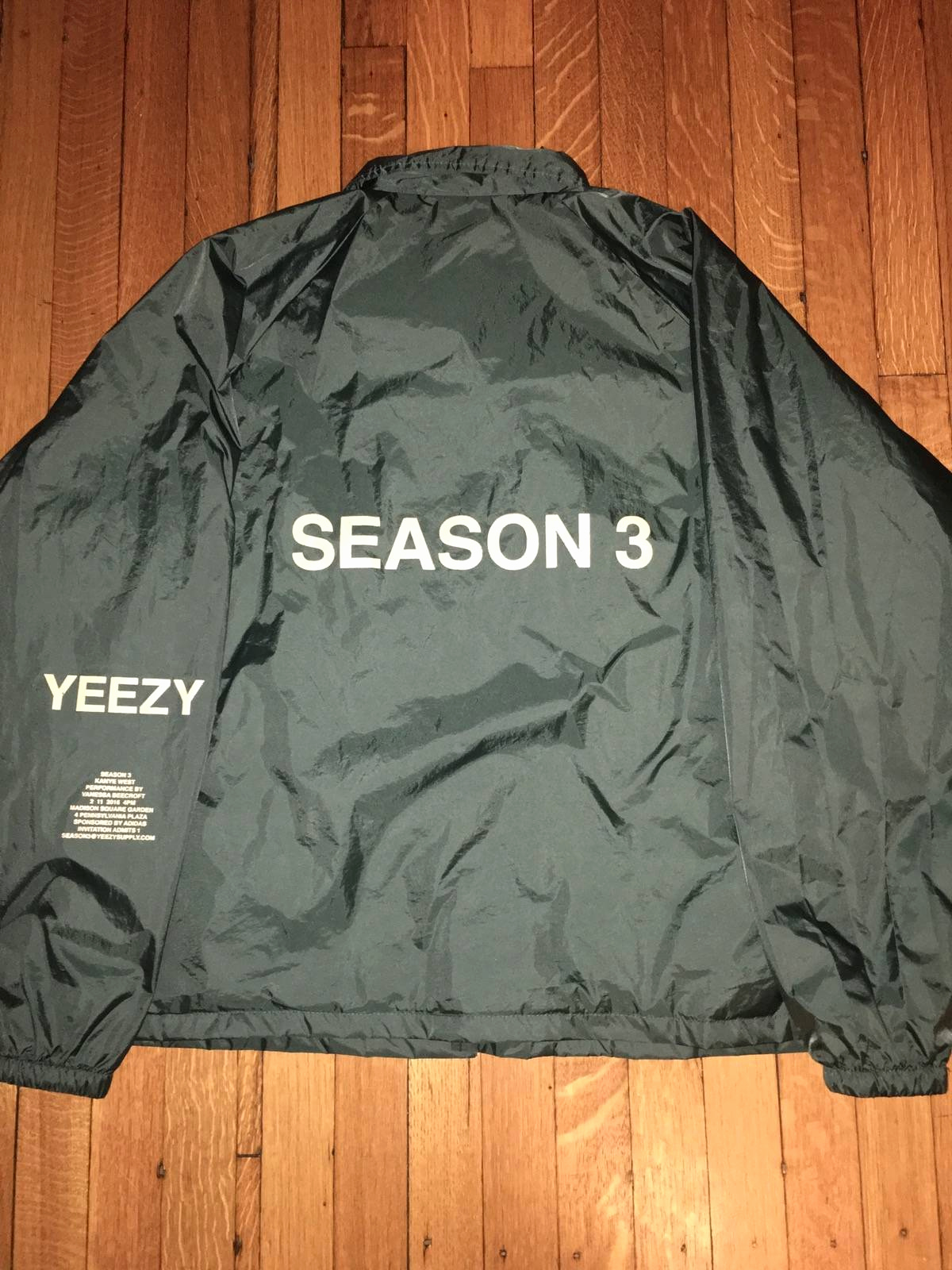 Yeezy Invitation 3 Windbreaker New Yeezy Season Season 3 Invitation Coaches Jacket