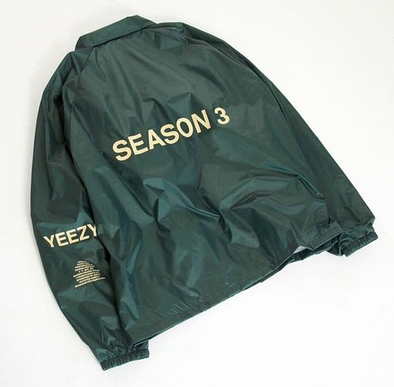 Yeezy Invitation 3 Windbreaker Unique Yeezy Season 3 Invitation Invite Jacket Kanye by