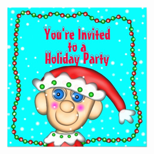 You Re Invited Invitation Elegant Holiday Elfie You Re Invited to A Holiday Party 5 25x5