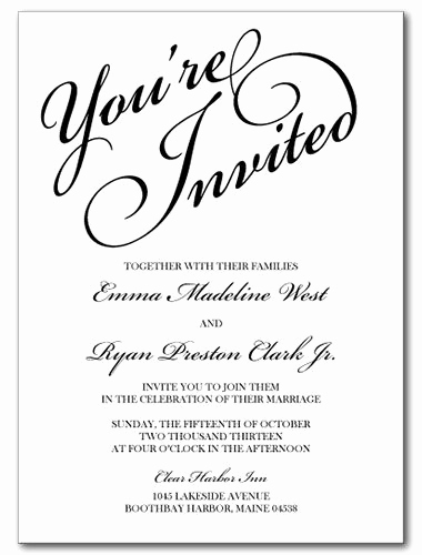 You Re Invited Invitation Elegant Wedding Invitations You Re Invited Invitation