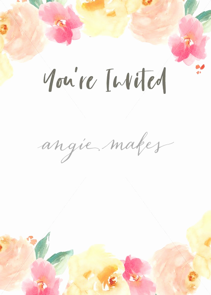 You Re Invited Invitation Elegant You Re Invited Invitation Template with Watercolor Flowers