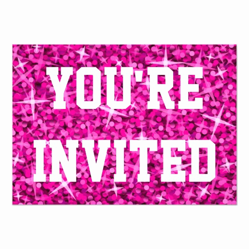 You Re Invited Invitation Fresh Glitz Pink You Re Invited Invitation White Text
