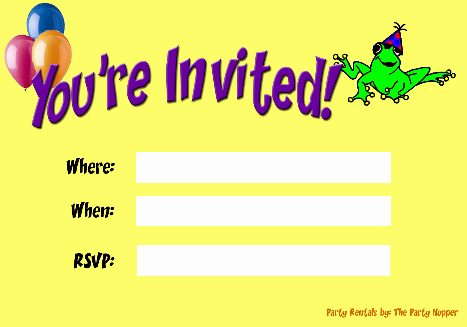 You Re Invited Invitation Fresh Party Invitations