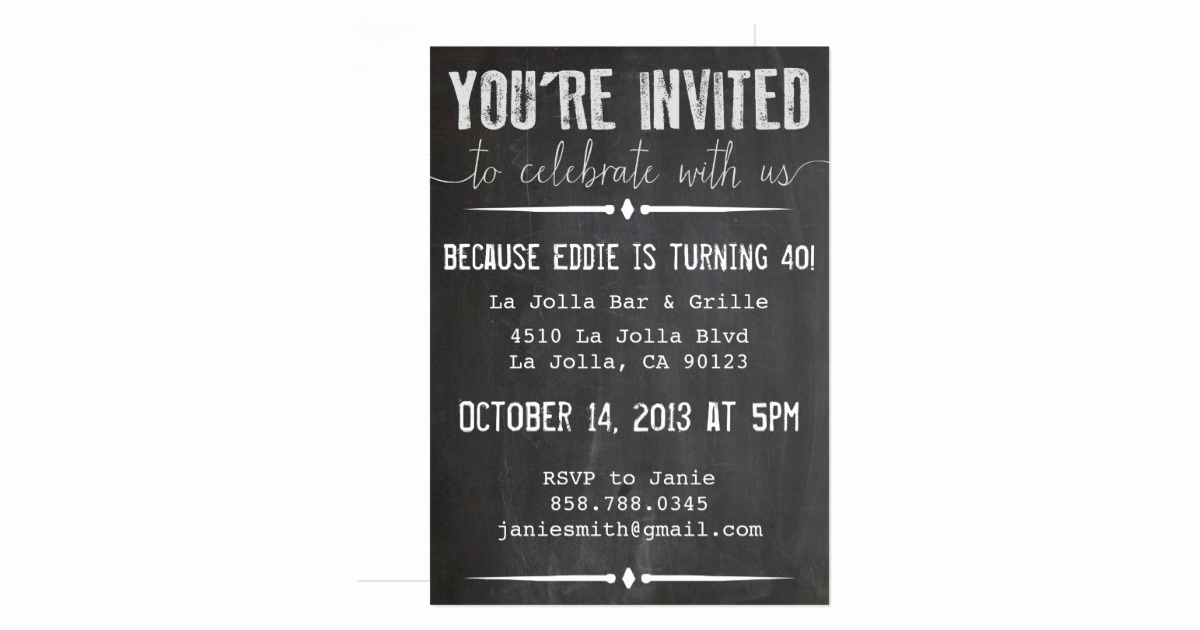 You Re Invited Invitation Fresh You Re Invited Chalkboard Invitation