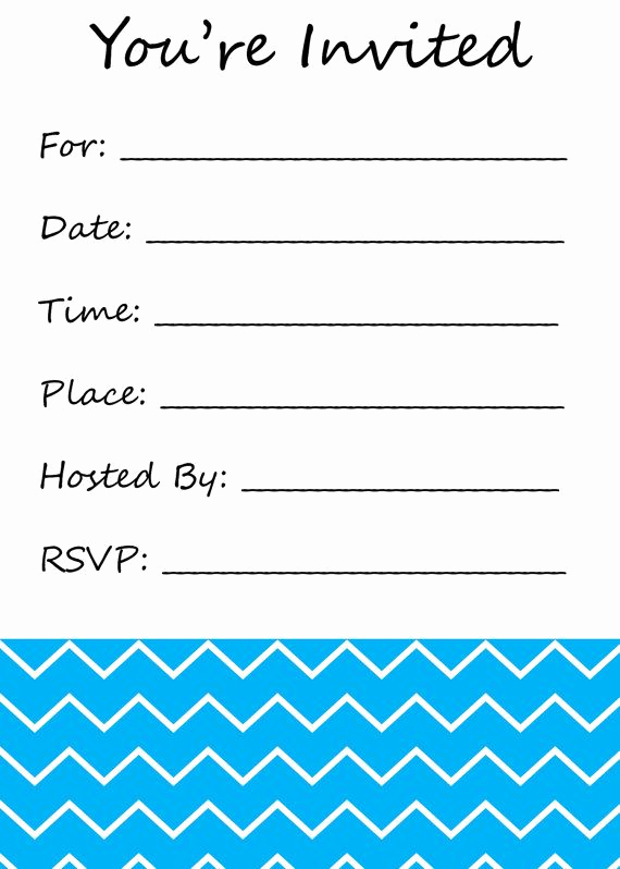 You Re Invited Invitation Lovely You Re Invited Fill In the Blank Invitation Chevron Print