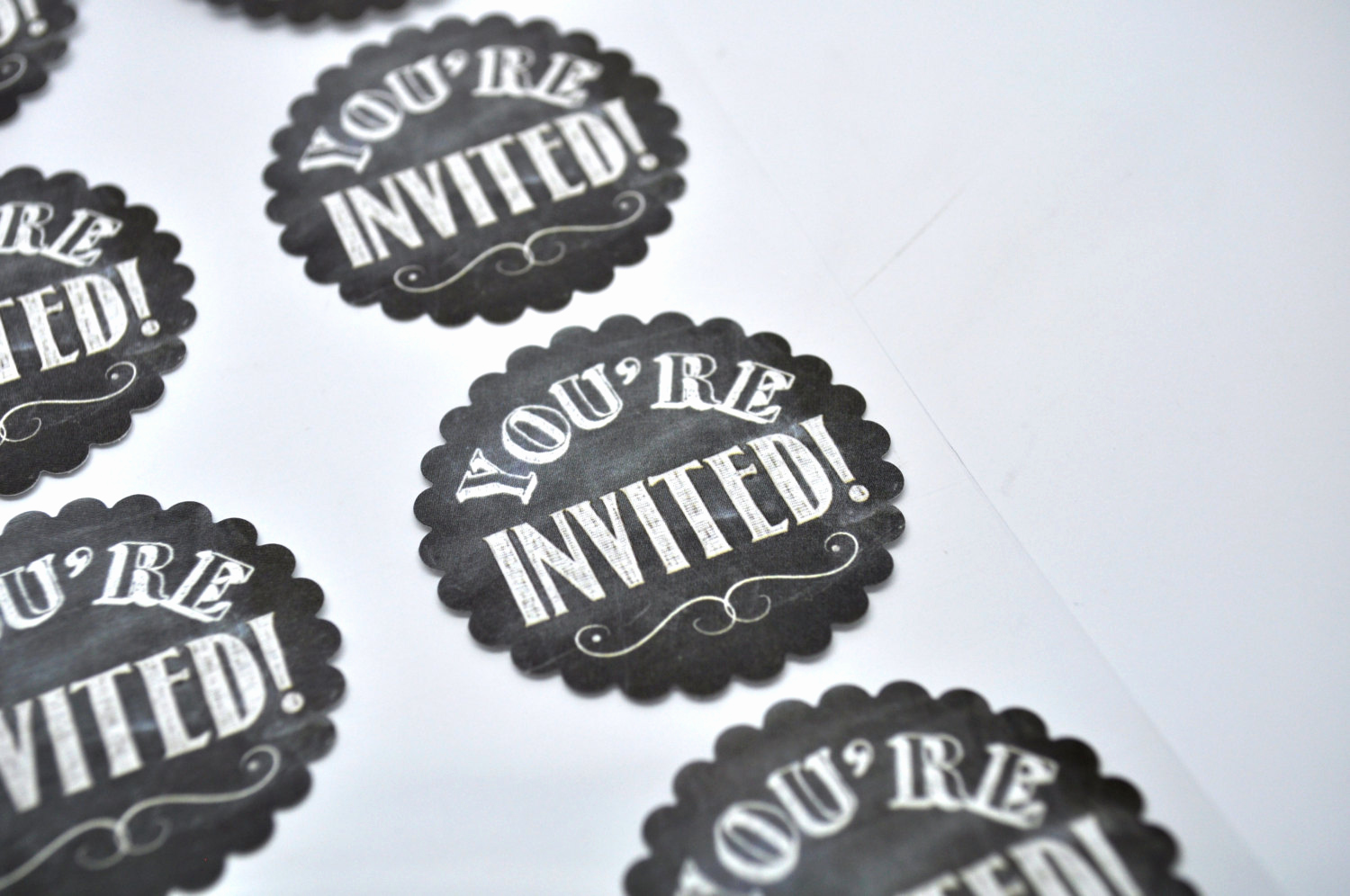 You Re Invited Invitation Lovely You Re Invited Label Qty 8 Chalkboard Sticker