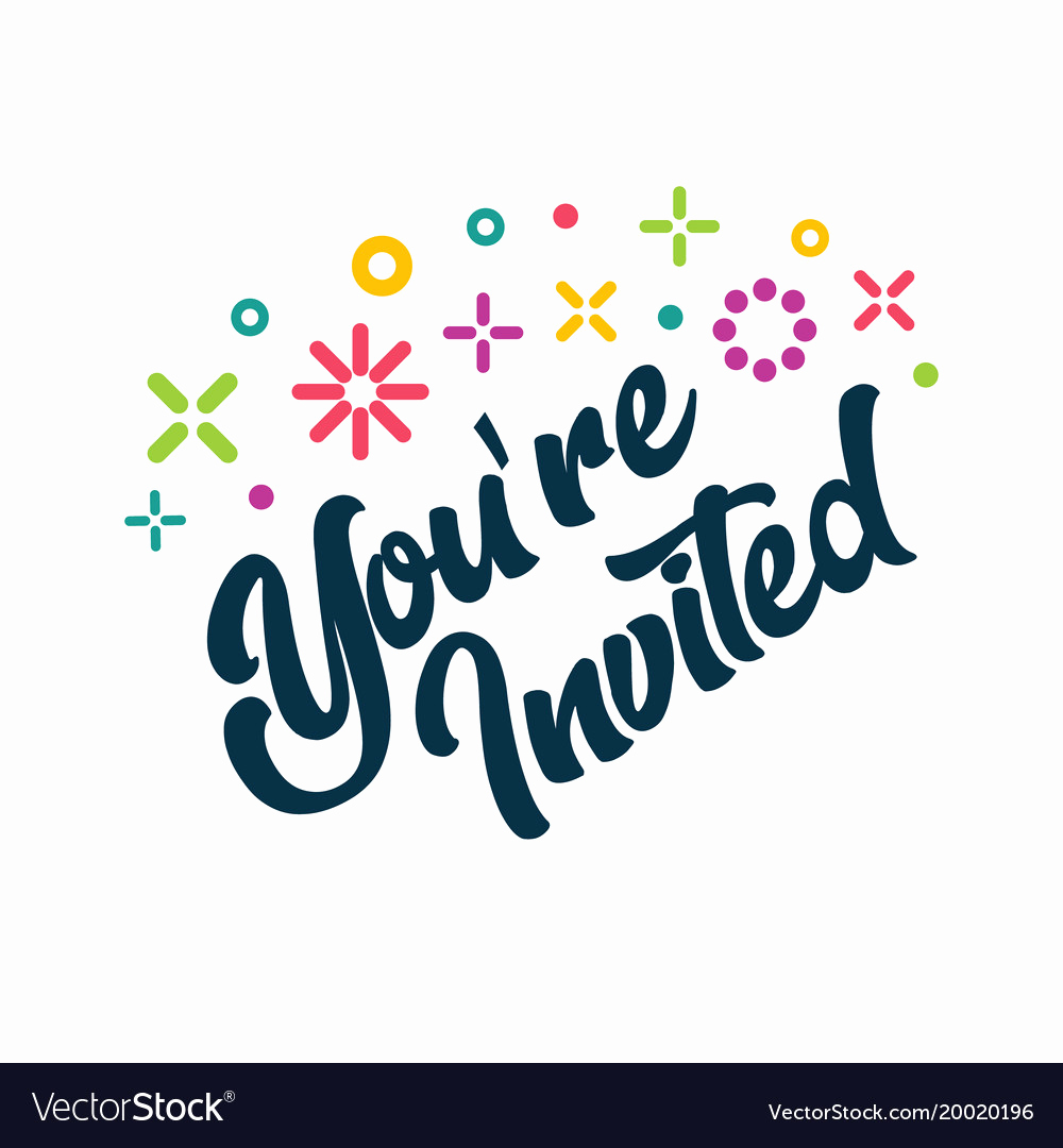 You Re Invited Invitation Lovely Youre Invited Greeting Invitation Card Royalty Free Vector