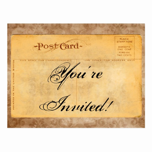 You Re Invited Invitation Luxury Vintage You Re Invited Invitation Postcards