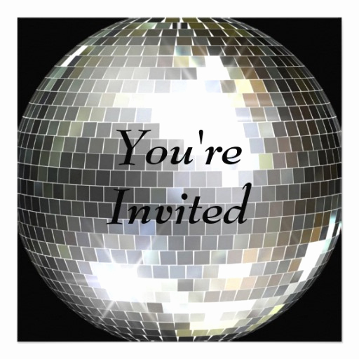 You Re Invited Invitation Unique 2 000 Disco Party Invitations Disco Party Announcements