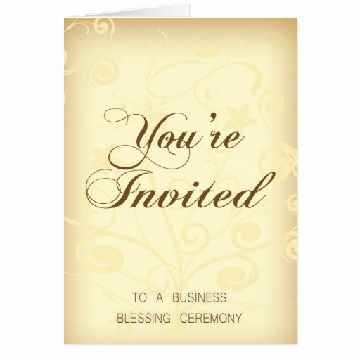 You Re Invited Invitation Unique Business Blessing Invitation Card You Re Invited