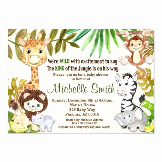 Zazzle Baby Shower Invitation Elegant Jungle Baby Shower Invitation Safari Invitation