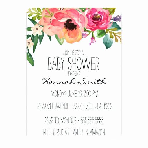 Zazzle Baby Shower Invitation Elegant Unique Boho Floral Baby Shower Invitation