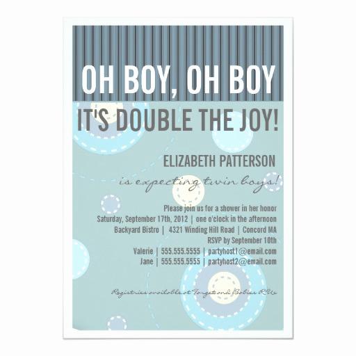 Zazzle Baby Shower Invitation Fresh Modern Mom Twin Boy Baby Shower Invitation