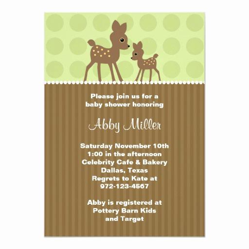 Zazzle Baby Shower Invitation Fresh Woodland Deer Baby Shower Invitations