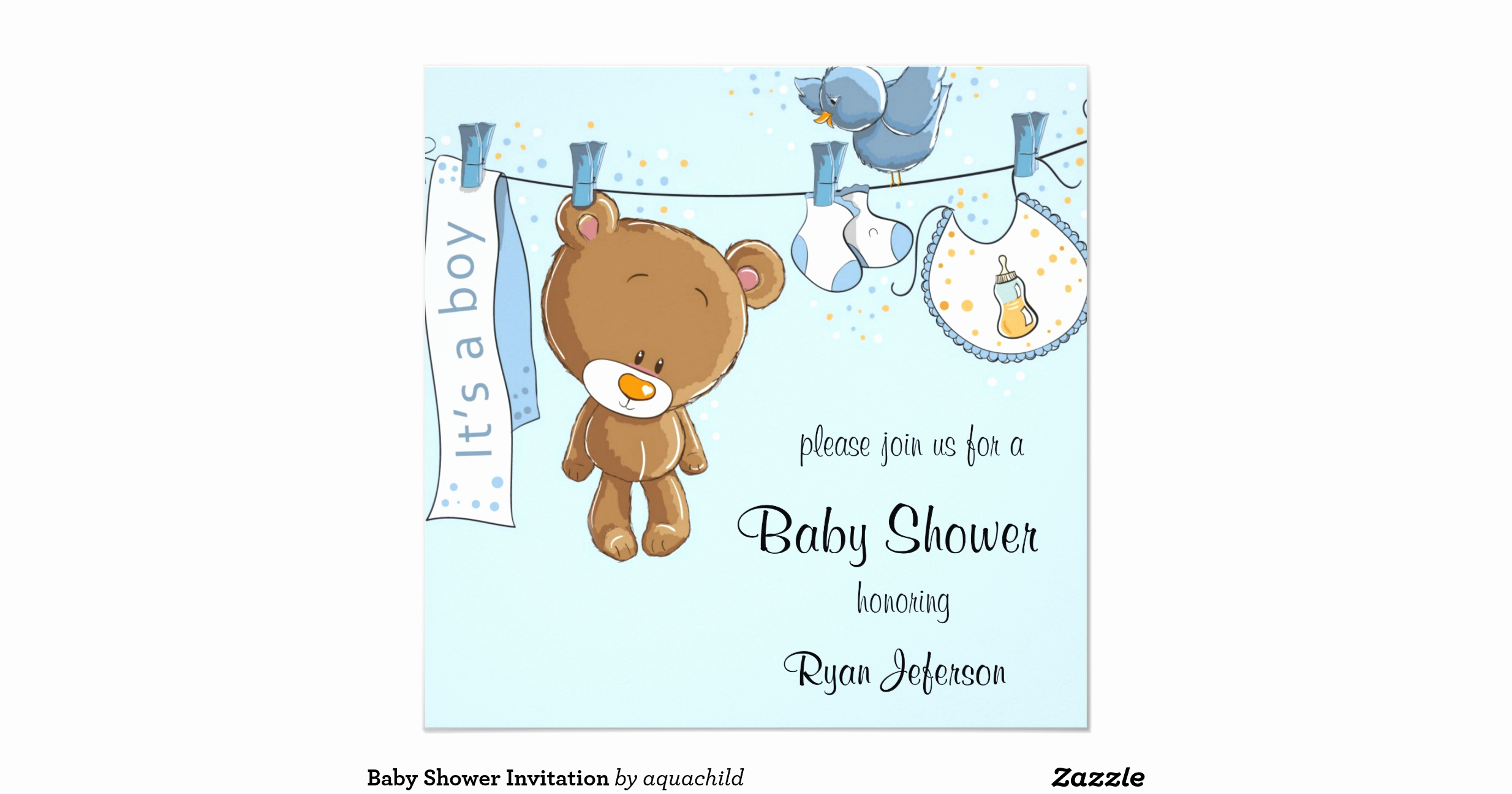 Zazzle Baby Shower Invitation Lovely Baby Shower Invitation R4d0ab0609b E9a2f1356d576b298