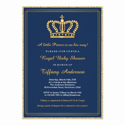 Zazzle Baby Shower Invitation Lovely Royal Baby Shower Invitation